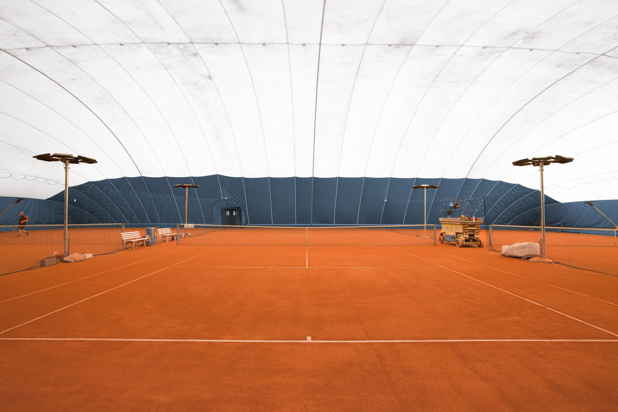 Bild der Membranhalle der hp Tennis- und Squashhallen Frauenfeld AG