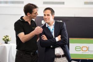 Urs Meyer CEO EOLED mit Turnierdirektor Lukas Troxler (Stv. Geschäftsführer / Director Marketing & Business Development bei Infront)