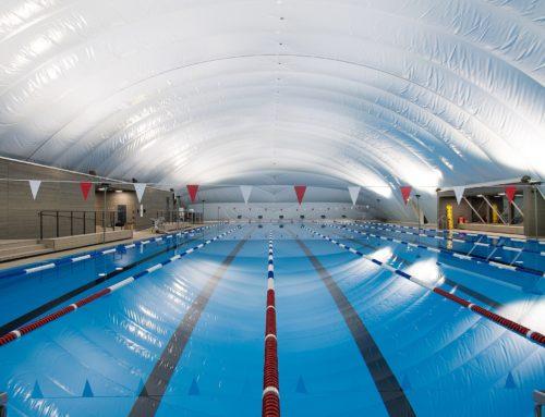 Die Schwimm- und Sportstadt Basel erhält eine Traglufthalle mit einer LED Beleuchtung von EOLED