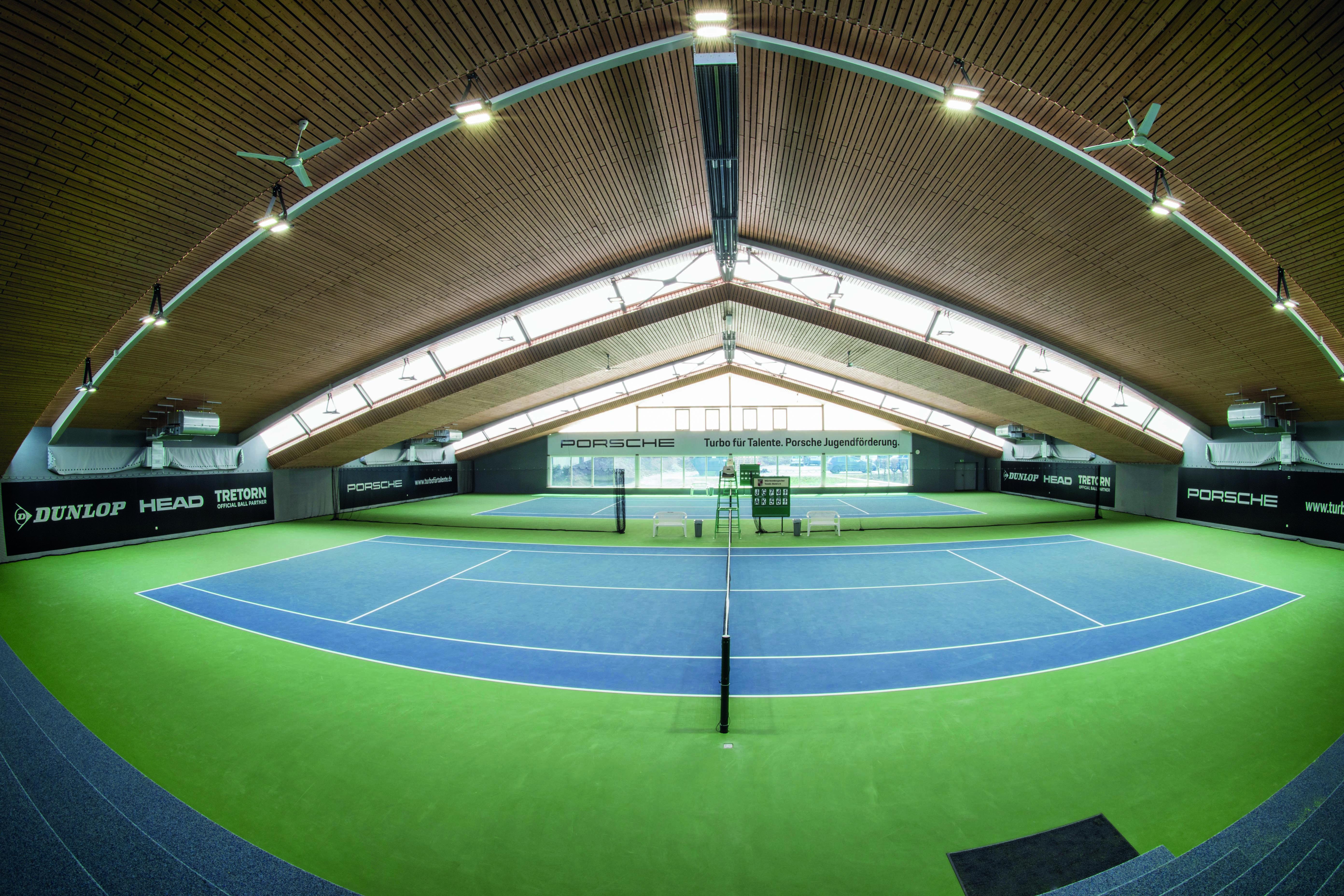 Tennishallenansicht des Württembergischen Tennis-Bundes (WTB)