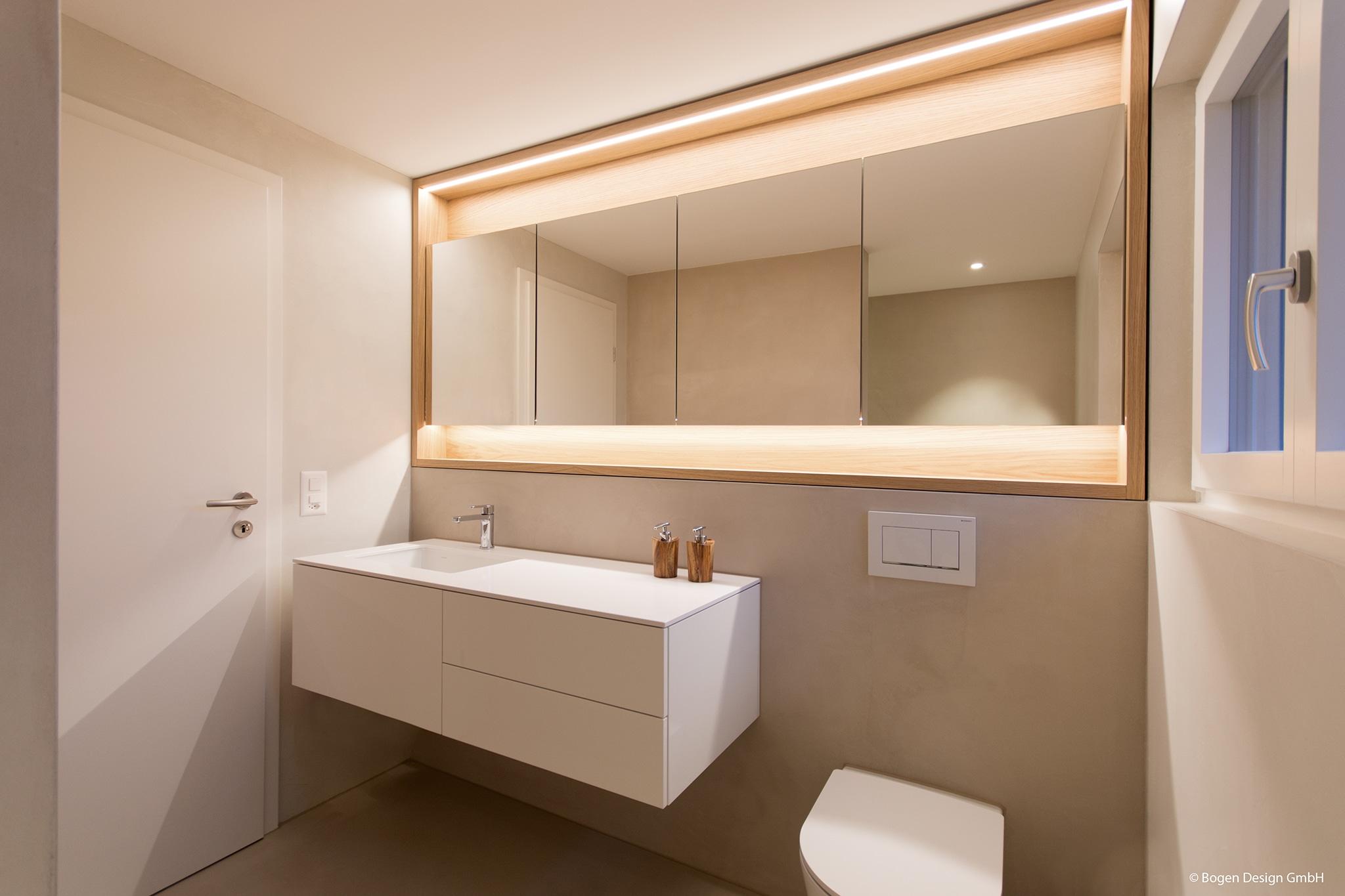 Badezimmer eines Einfamilienhauses in Fislisbach