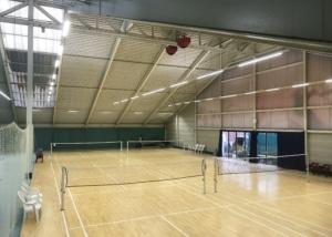 Bild der Badmintonhalle im Gesundheitspark Thalwil