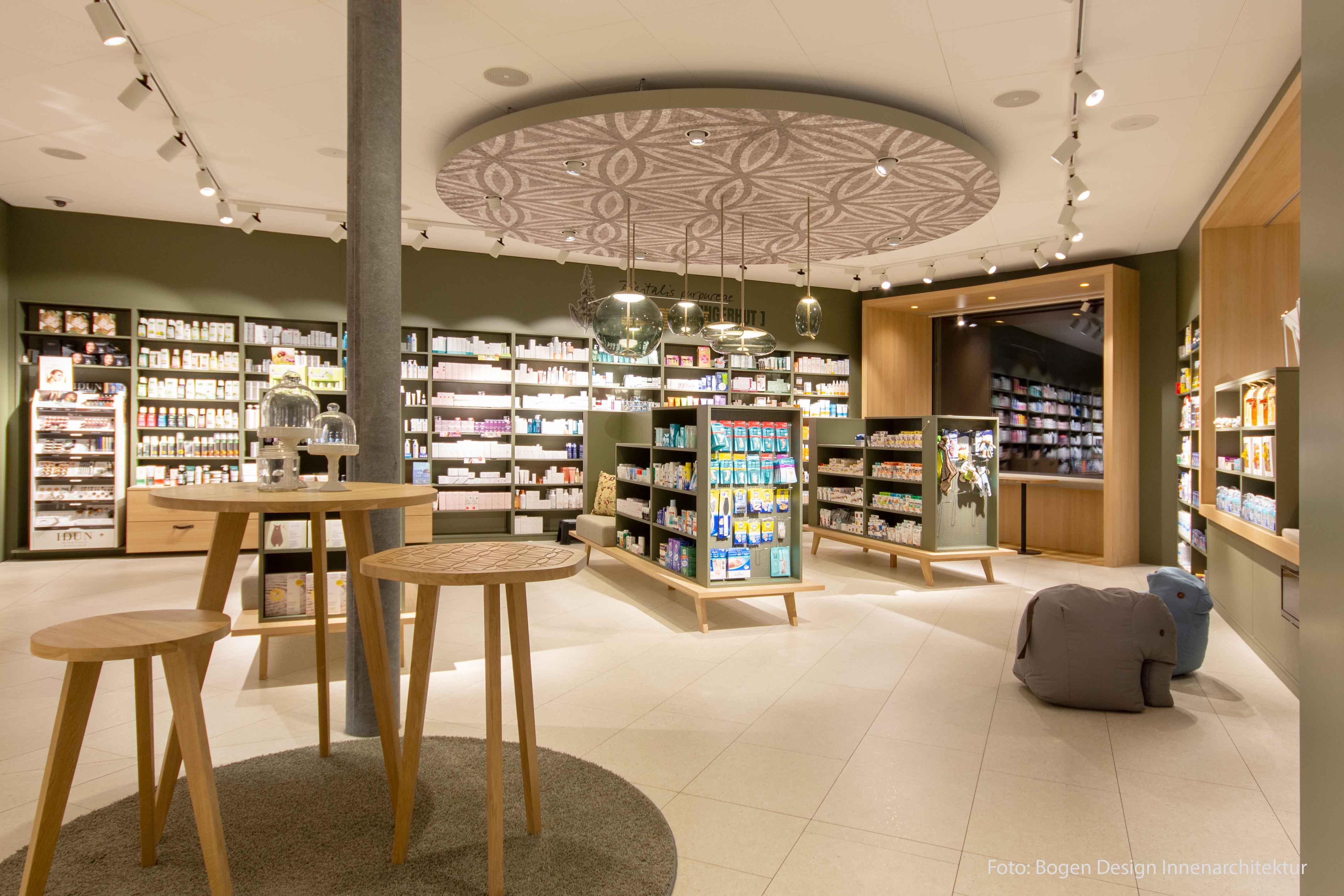 Bild der Inneneinrichtung der TopPharm Apotheke & Drogerie in Buchs AG