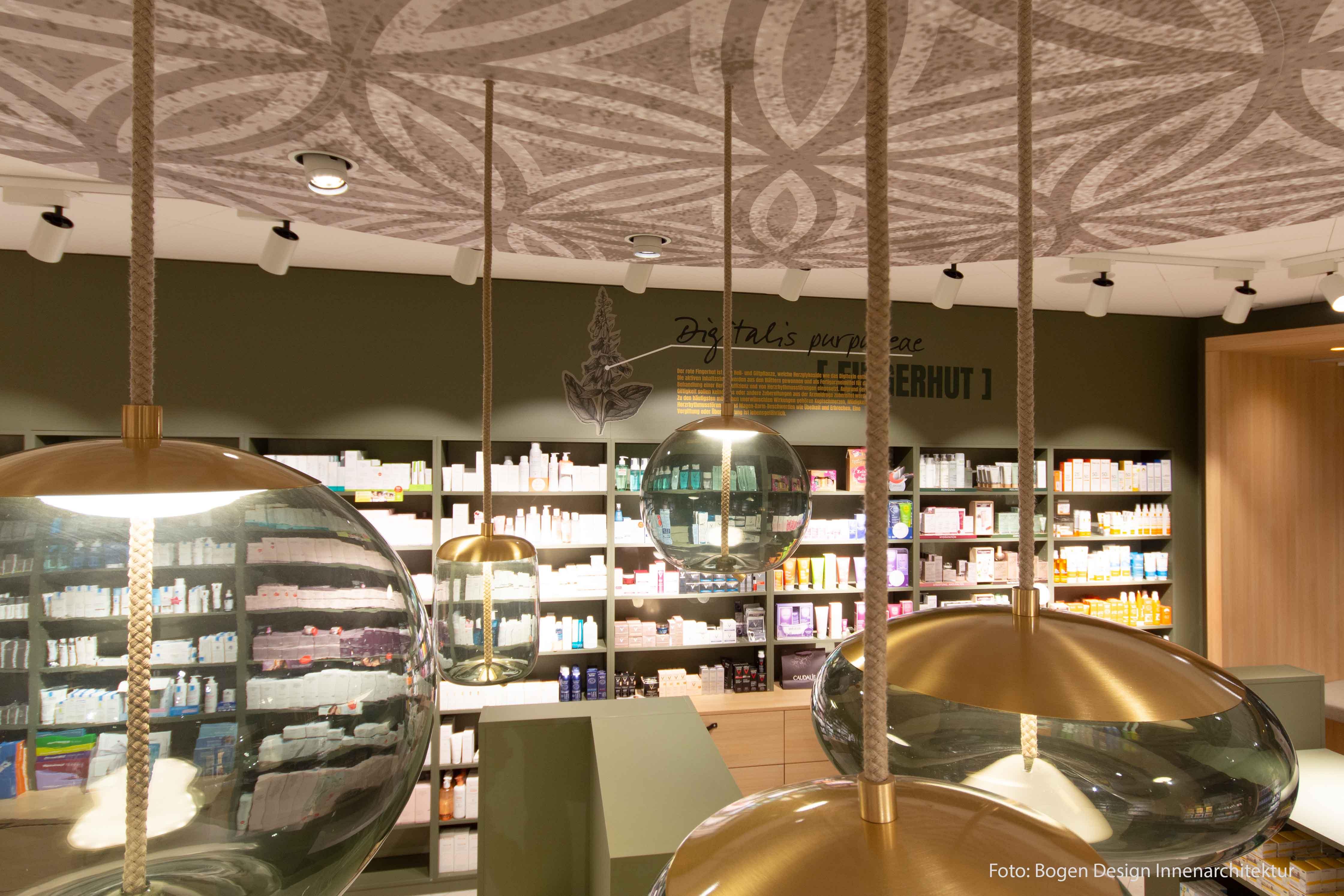 Bild der verwendeten Lampen in der TopPharm Apotheke & Drogerie in Buchs AG
