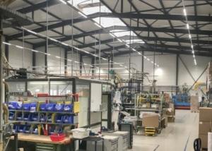Industriehalle der Biblast AG in Sitterdorf