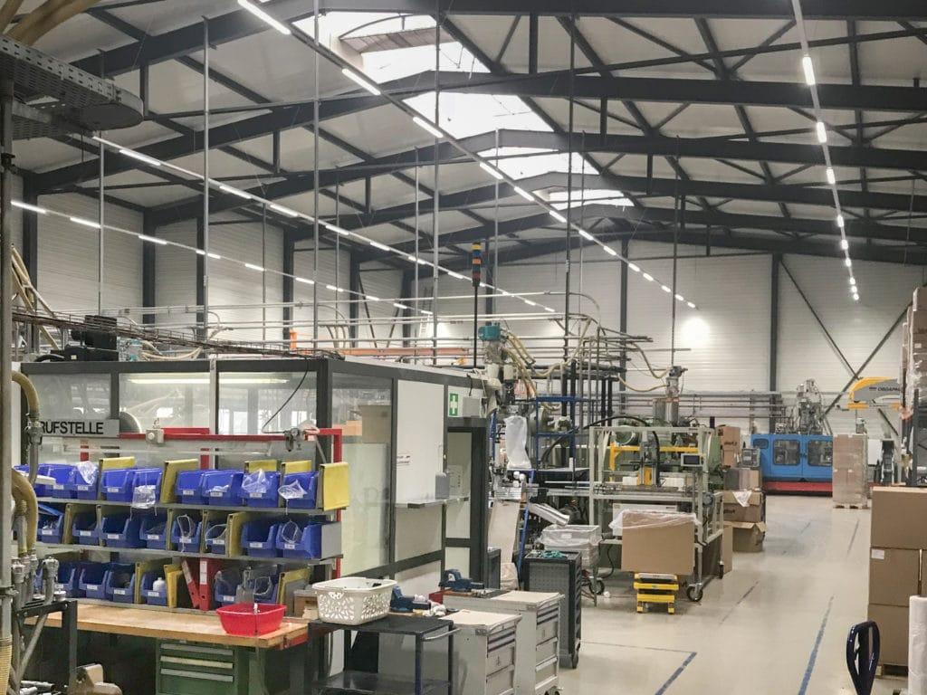 Industriehalle der Biplast AG in Sitterdorf