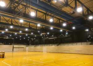 Bild des Basketballfelds im Collège Sainte-Croix