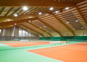 Bild der Tennishalle im Sportcenter TAB