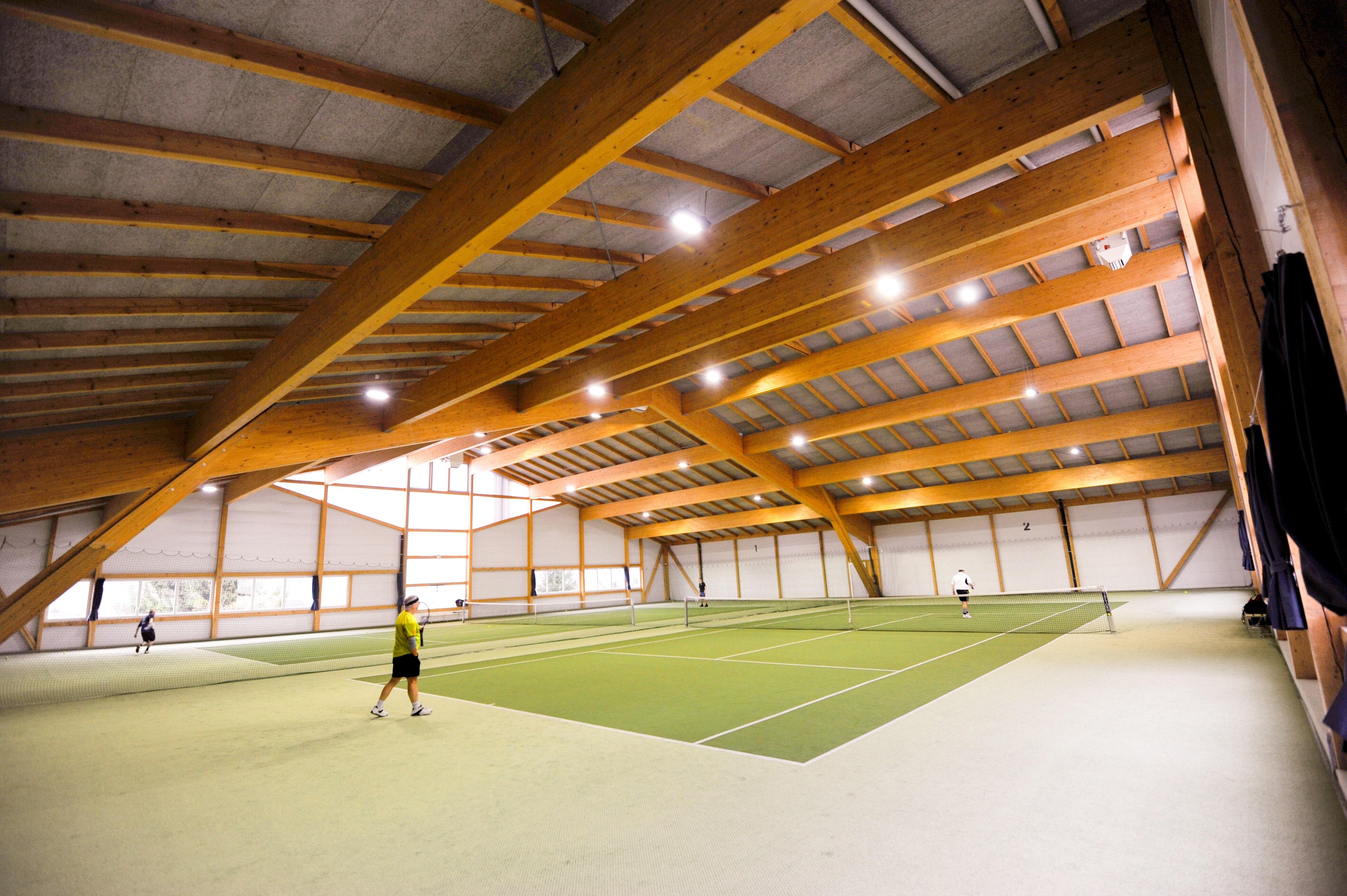 Bild der Tennishalle im Sportcenter Tellimat