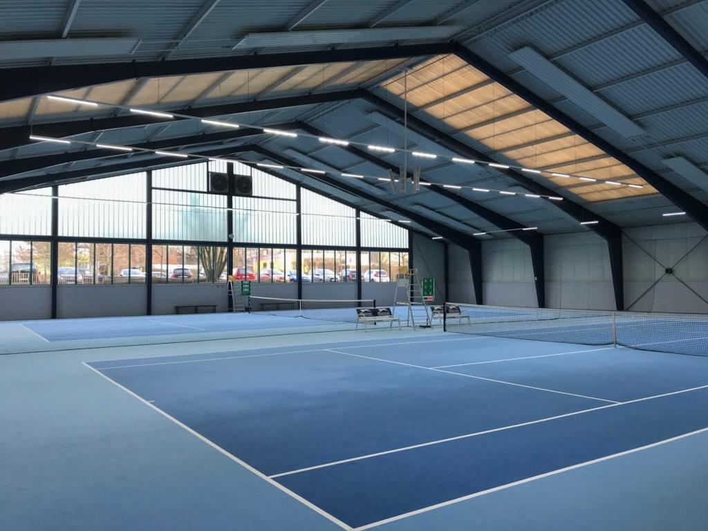 Bild der Tennishalle in der Sportgemeinde 1886 e.V. Weiterstadt