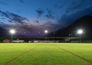 Bild des Fussballplatzes des FC US Arbedo