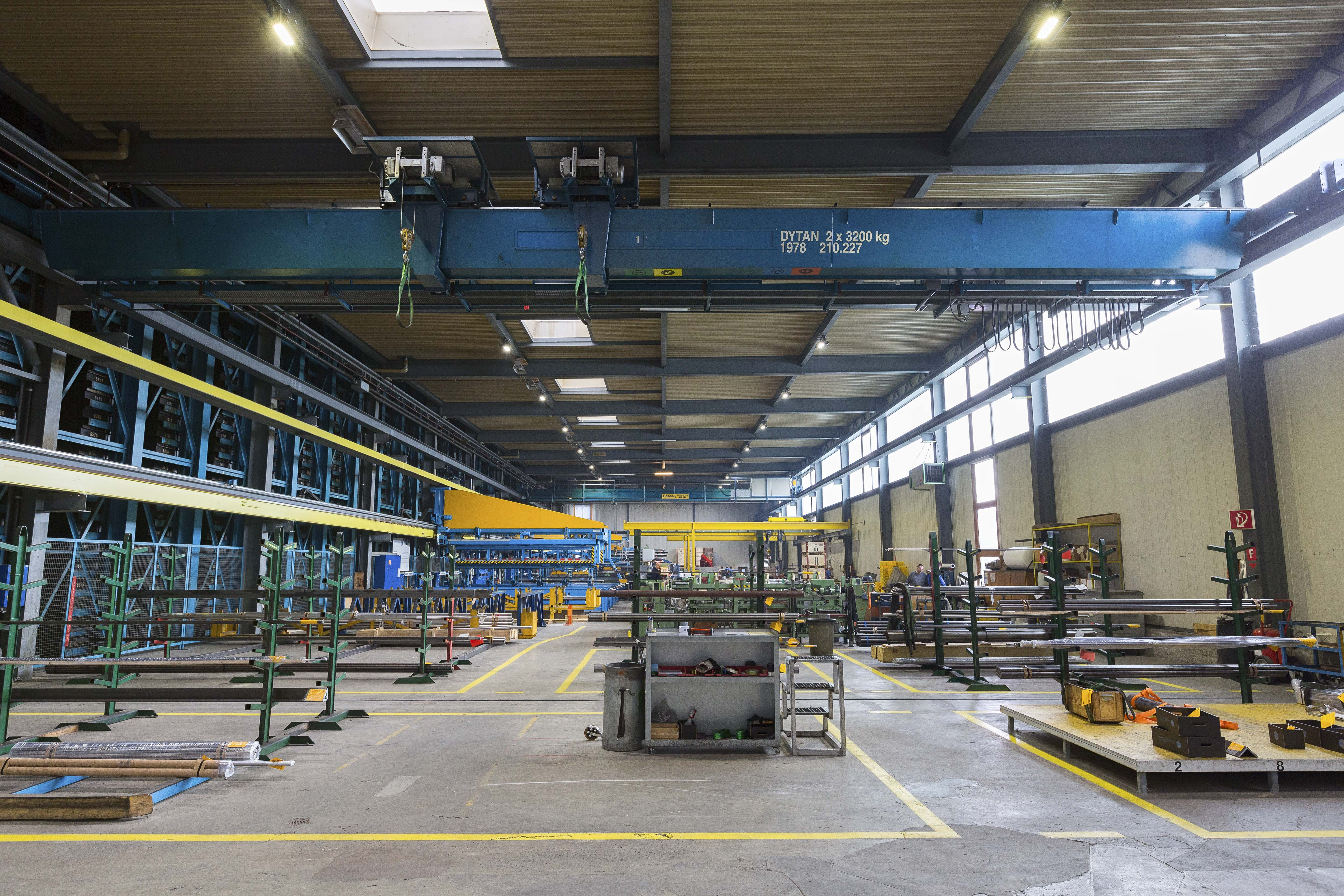 Bild der Industriehalle der Schmolz + Bickenbach AG in Bronschhofen
