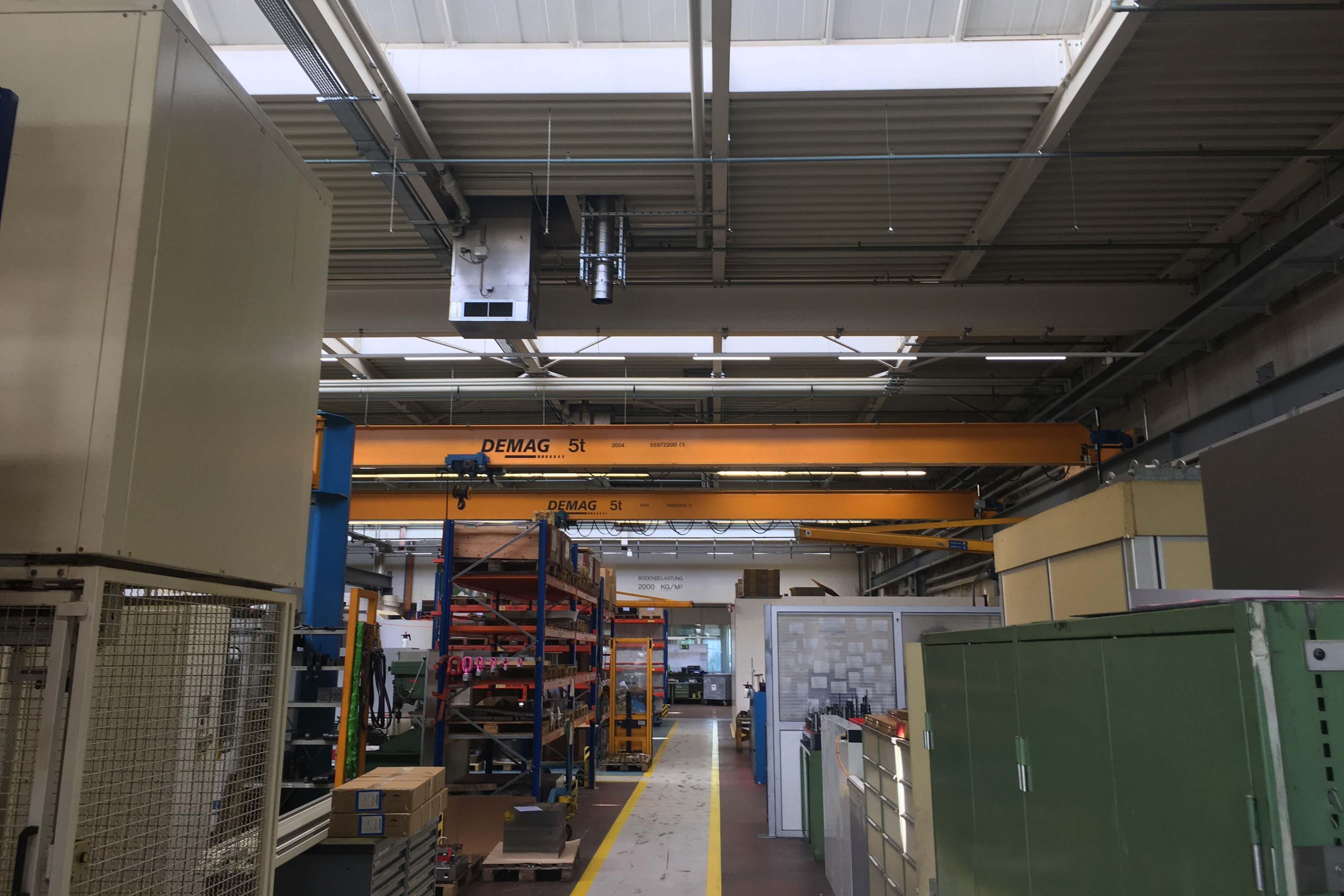 Bild der neuen Beleuchtung der Maag Pump Systems AG
