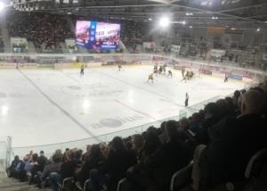 Bild eines Spiels in der Lonza Arena in Visp