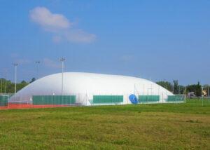 Bild der Membranhalle des TC Plan-les-Ouates
