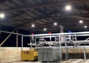 Bild der Industriehalle der ARA Langmatt
