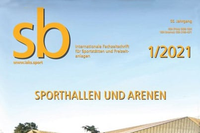 """Bild des Zeitschriften-Covers der sb-Ausgabe """"Sporthallen und Arenen"""""""