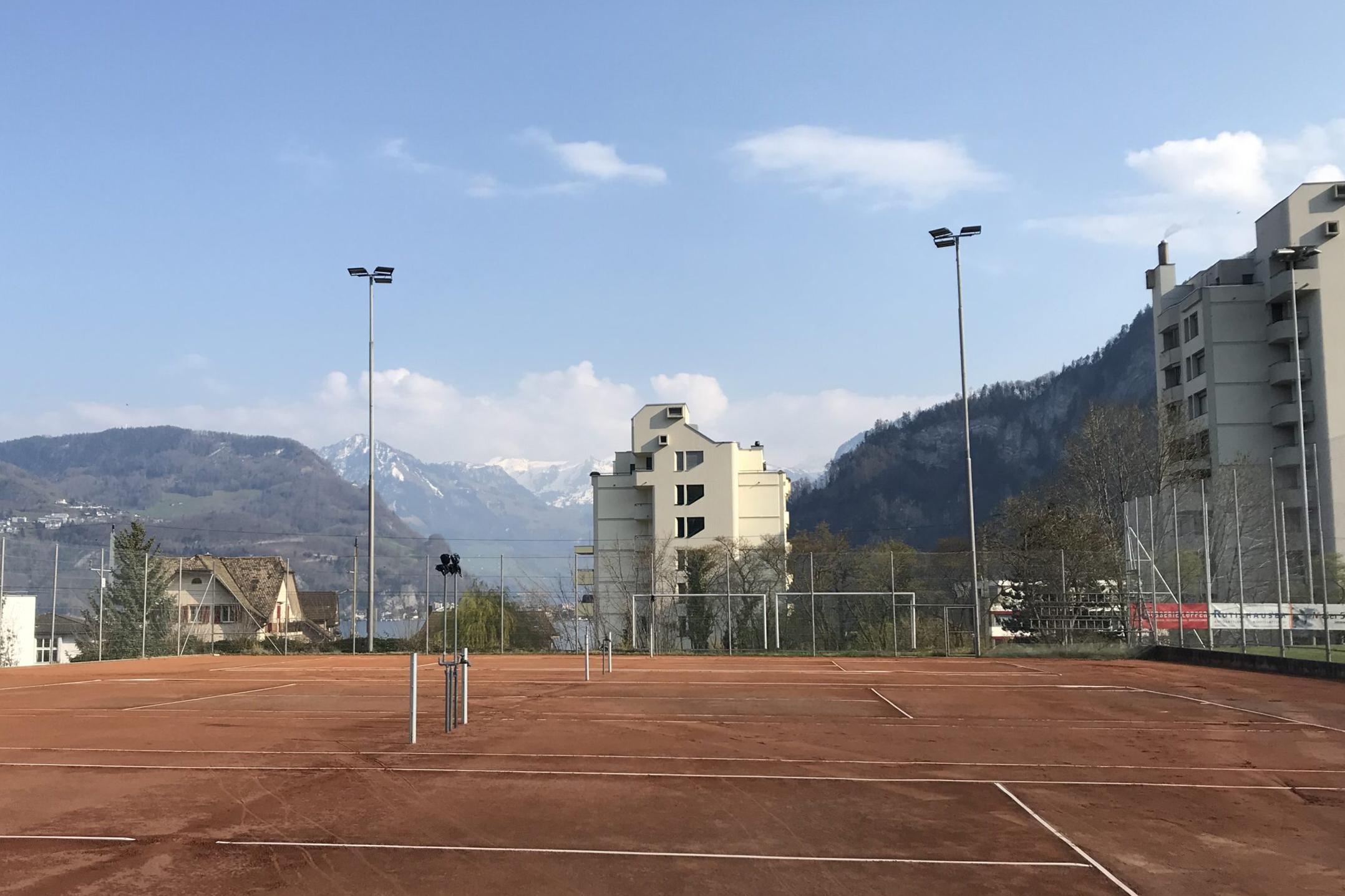 Bild des Tennisplatzes des TC Hergiswil