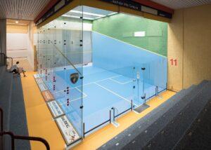 Bild der Squashhalle des Vitis Sportcenters in Schlieren