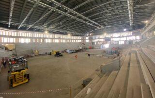 Foto des Rohbaus des Innenbereichs des neuen Stadions Valascia