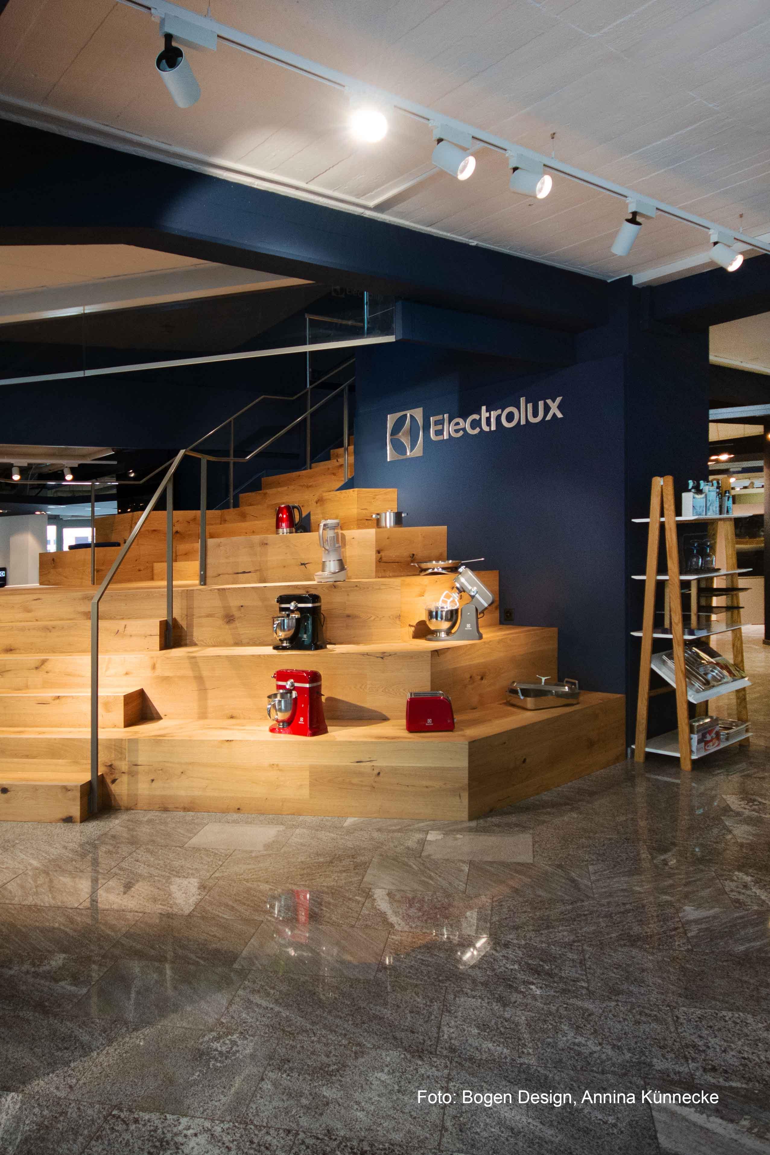 Bild einer Treppe in der Electrolux Taste Gallery
