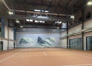 Bild der Tennishalle im Lofthotel Murg